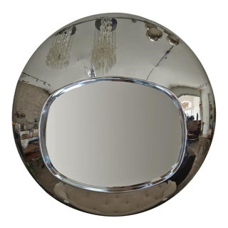 1970s Chrome Orb Mirror For Sale