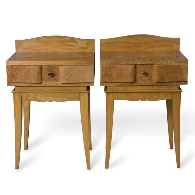 French Oak Inlaid End Tables - Image 7 of 7