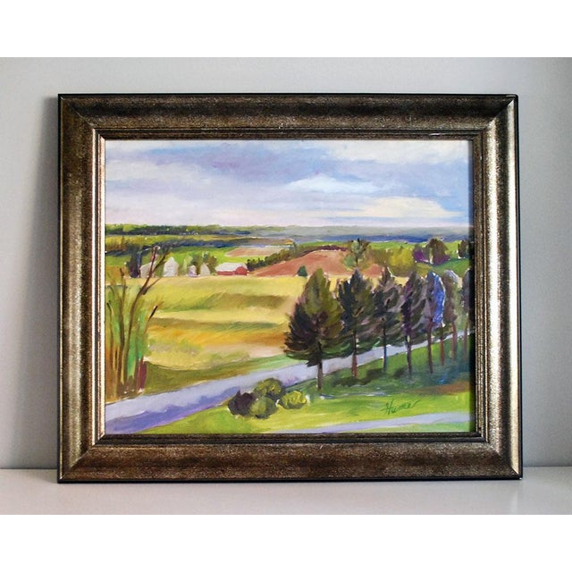 "2000 - 2009 Original ""Balducci Vineyards"" Plein Air Oil Painting For Sale - Image 5 of 5"
