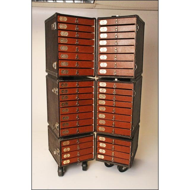 Vintage Industrial Black Steamer Storage Trunk - Image 2 of 11