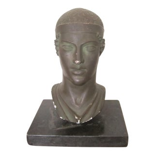 20th Century Neoclassical Greek God Sculpture Bust For Sale