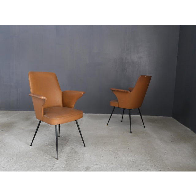 Animal Skin Pair of Chairs by Nino Zoncada From 1950. For Sale - Image 7 of 7