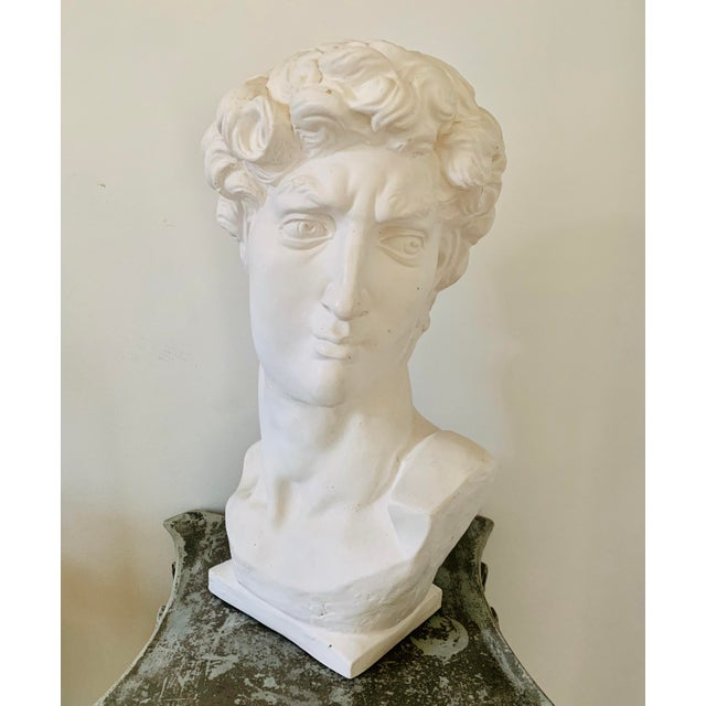 Figurative 1990s Plaster Bust of David Sculpture For Sale - Image 3 of 12