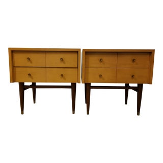 Mid-Century Vintage Merton Gershun for American of Martinsville Nightstands- A Pair For Sale