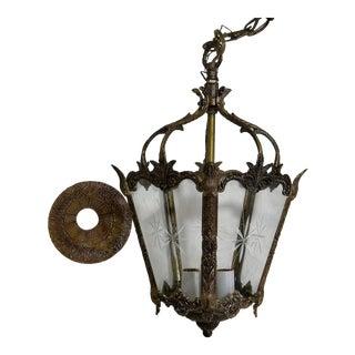 Vintage French Lantern-Style Chandelier