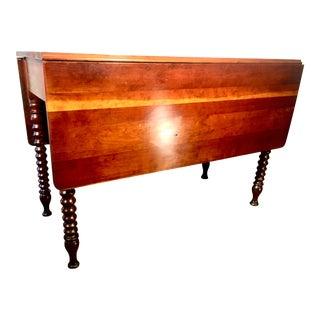 19th Century Bobbin Leg Farm Style Dining Table For Sale