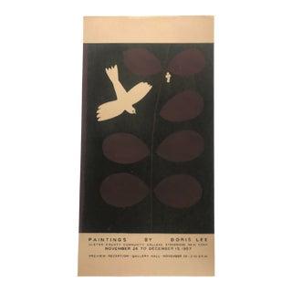 Mid-Century Modern Doris Lee Exhibition Serigraph, 1967 For Sale