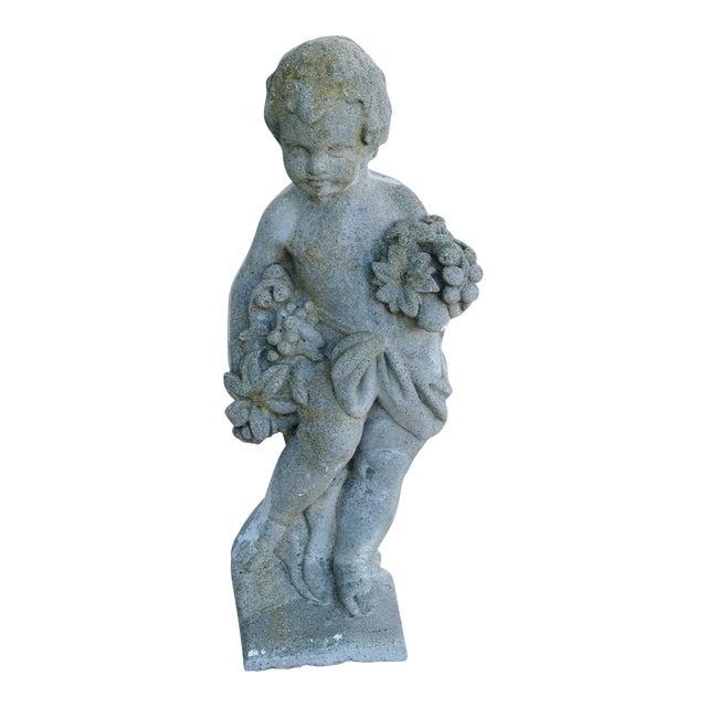 1950s Concrete Cherub Garden Statue - Image 1 of 11