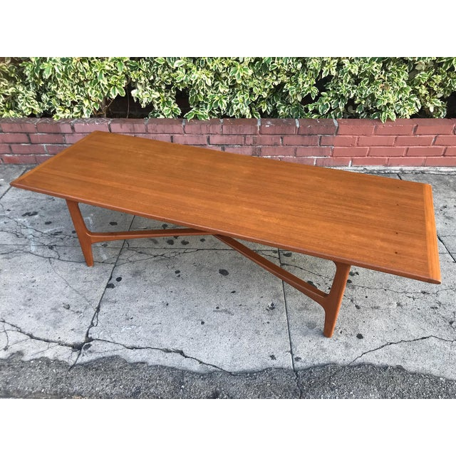 Brown Mid-Century Danish Coffee Table by Dux For Sale - Image 8 of 10