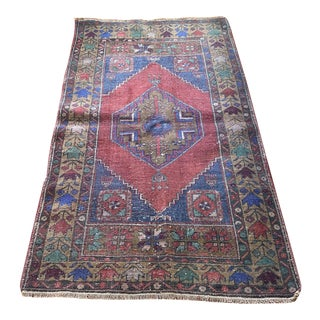 1970s Turkish Hand Knotted Oushak Rug For Sale