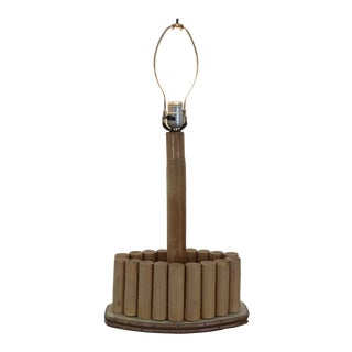 Mid Century Tiki Bamboo Lamp For Sale