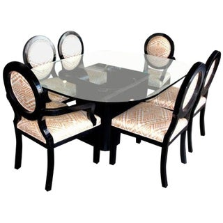 J. Robert Scott Dining Chairs and Table- 7 Pieces For Sale