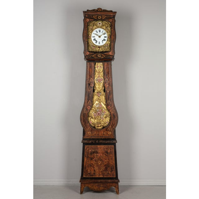 19th Century French Comtoise Grandfather Clock For Sale - Image 12 of 12