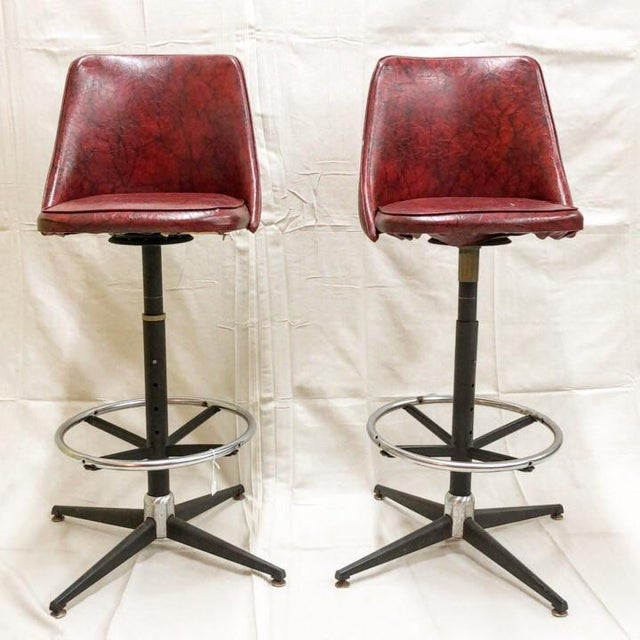 Mid-Century Cosco Swivel Bar Stools - A Pair - Image 11 of 11