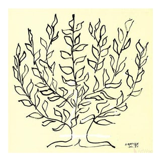 """2014 Large Lithograph, """"Le Buisson"""" by Henri Matisse"""