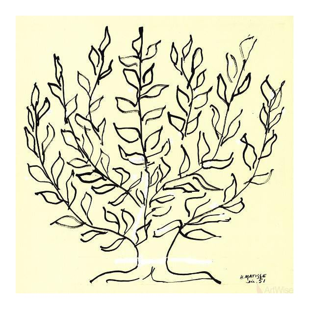 """2014 Large Lithograph, """"Le Buisson"""" by Henri Matisse For Sale"""