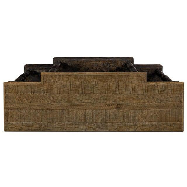 Sarreid Ltd. Birmingham Oak Top Console Table For Sale - Image 4 of 6
