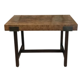 1950s Art Nouveau Walnut Side Table or Bench For Sale
