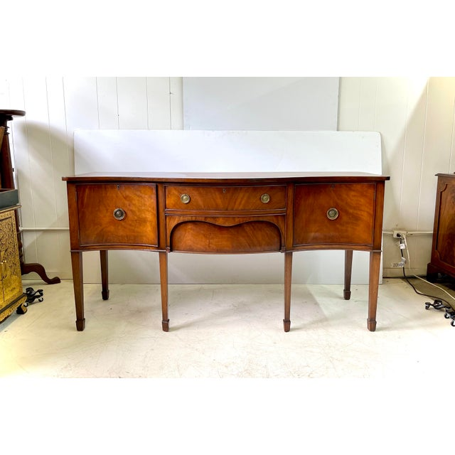 English George III Style Sideboard of Mahogany For Sale - Image 13 of 13