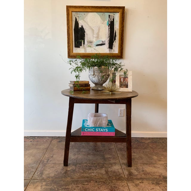 Wonderful table for just about anything. Rustic French farm antique side table.