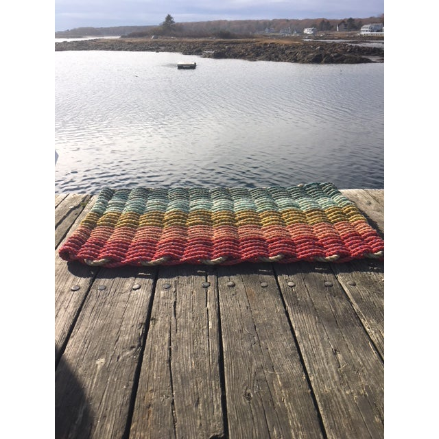 Recycled Lobster Rope Doormat - 1′7″ × 2′10″ - Image 3 of 4
