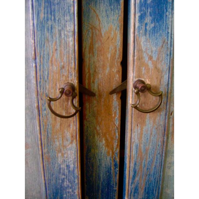 Antique Handmade Pine Hanging Cabinet - Image 4 of 9