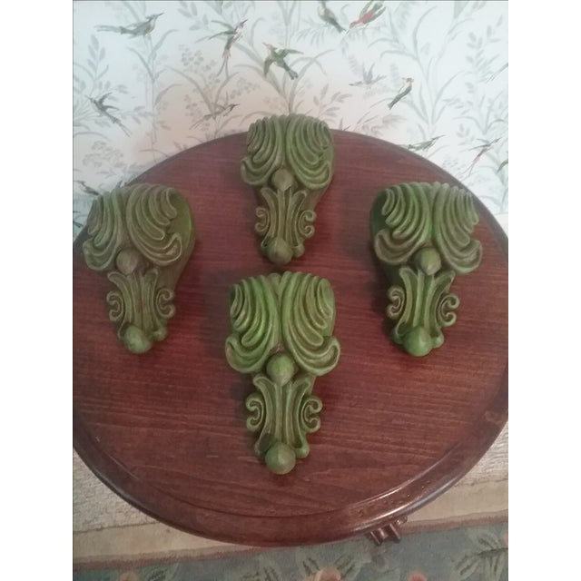 Green Curtain Rod Sconces - 4 - Image 5 of 5
