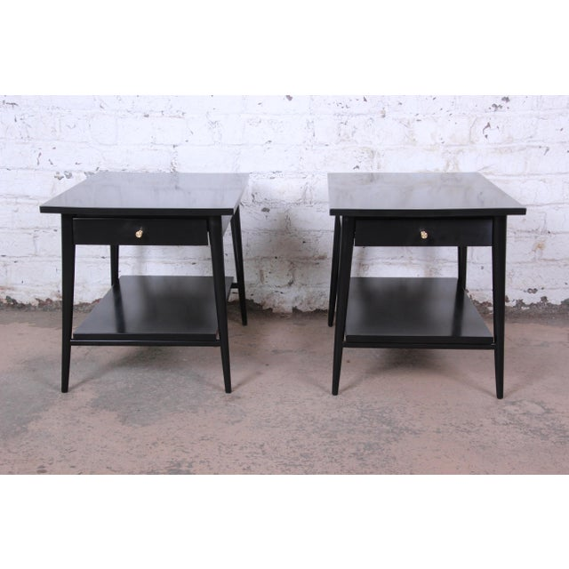 Paul McCobb Planner Group Ebonized Nightstands or End Tables, Pair For Sale - Image 13 of 13