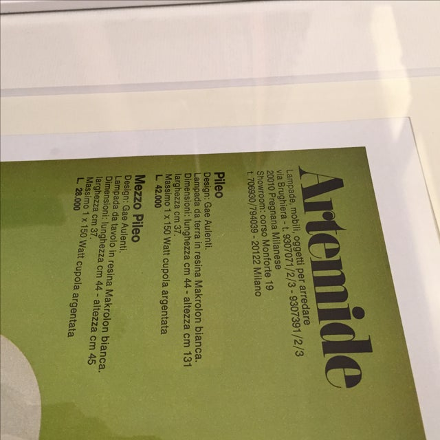 1972 Vintage Advertising Artemide Gae Aulenti - Image 6 of 6