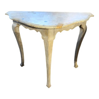 French Rococo Style Console Table For Sale