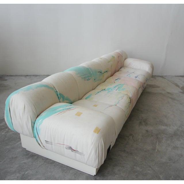 Mario Bellini Custom Oversized Post Modern Italian Sofa on Plinth Base For Sale - Image 4 of 9