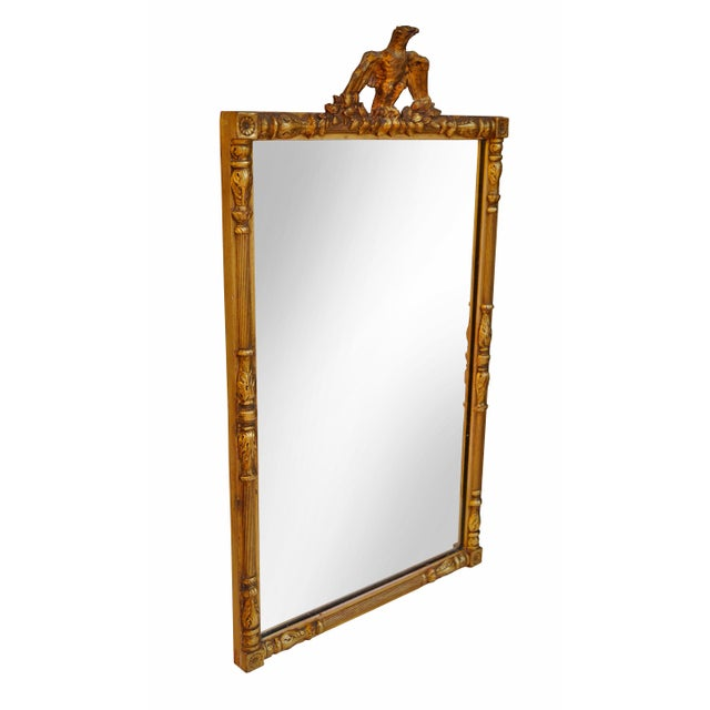 Federal Style Gold Brass & Gilt Eagle Mirror - Image 3 of 3