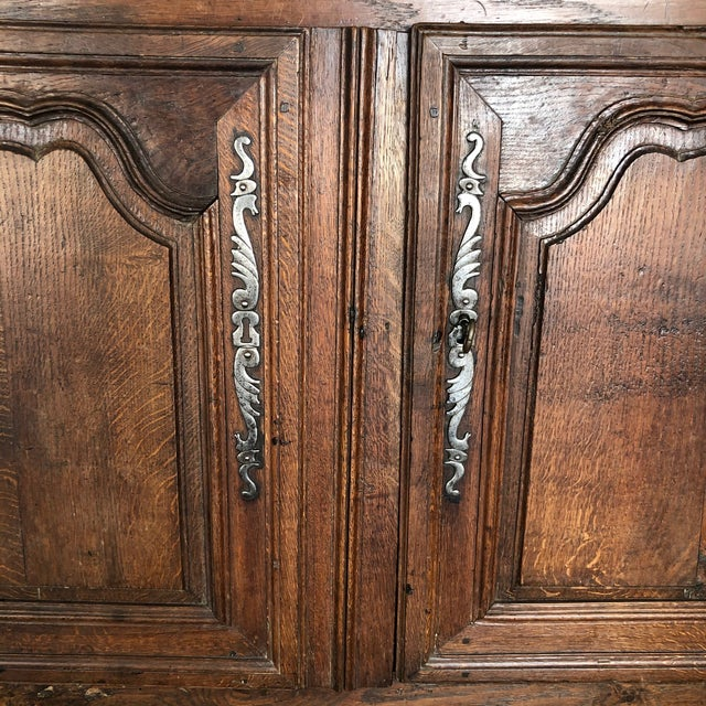 French Early 19th Century Louis XV Oak Buffet From Normandy For Sale In Naples, FL - Image 6 of 13