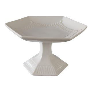 White English Ironstone Compote Dessert Stand For Sale