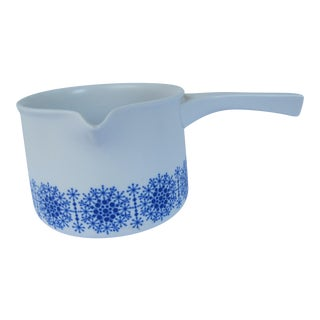 German Blue & White Chocolate Pot For Sale