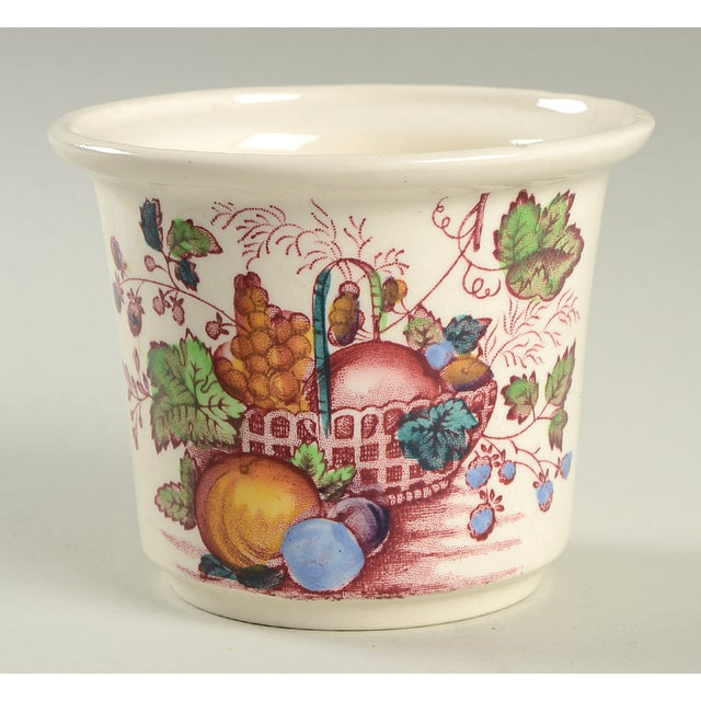 Mid 20th Century Mason's Fruit Basket Red Multicolor Drip Jar & Lid For Sale - Image 5 of 5