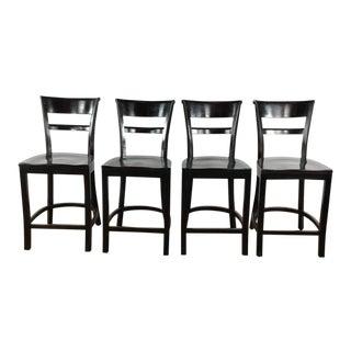 Modern Crate & Barrel Bar Stools- Set of 4 For Sale