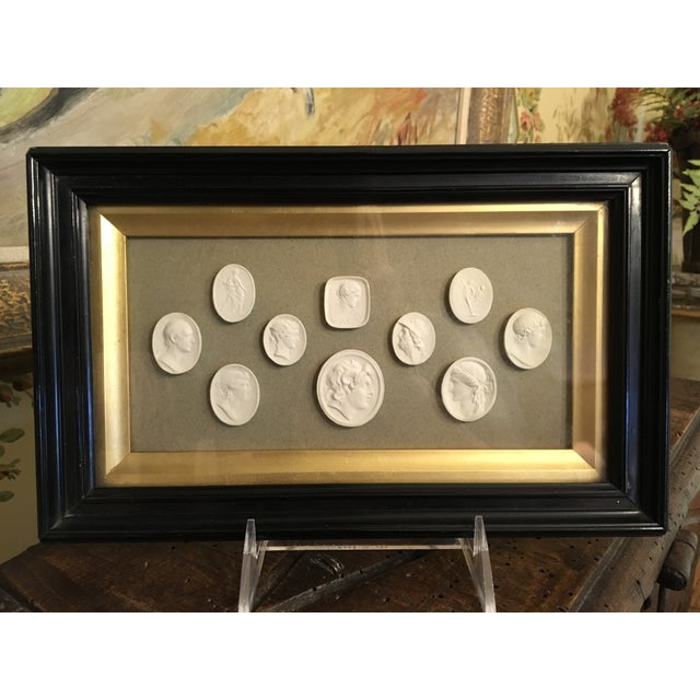 19th Century Antique European Grand Tour Framed Plaster Intaglios For Sale - Image 13 of 13