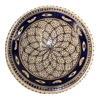 Moroccan Ceramic Painted Plate For Sale