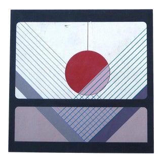 Mid 20th Century Geometric Silkscreen on Paper For Sale