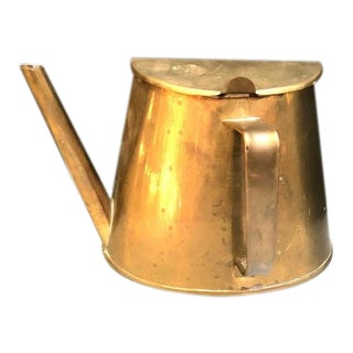 1950s Turkish Atomic Brass Semicircle Teapot For Sale