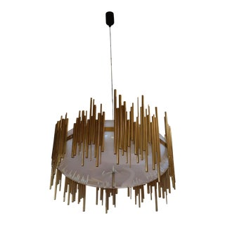 An Italian Ceiling Lamp by Candle, Italy 70' For Sale