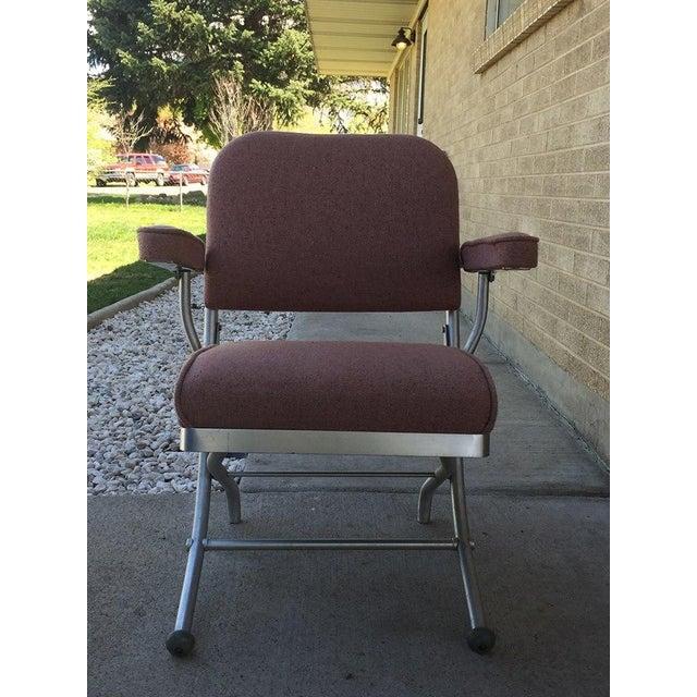 Warren McArthur Pink Upholstered Folding Chair - Image 4 of 8