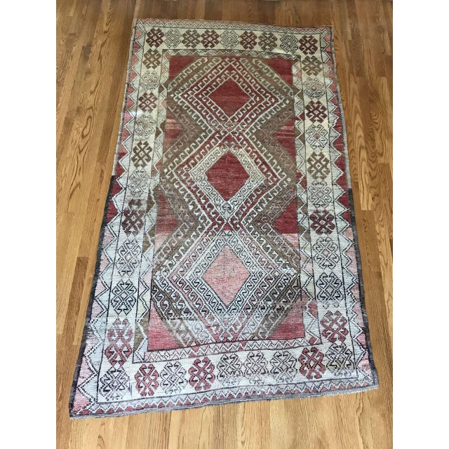 Textile Bellwether Rugs Oushak Red & Earth Tone Patina Rug - 4′1″ × 7′5″ For Sale - Image 7 of 7