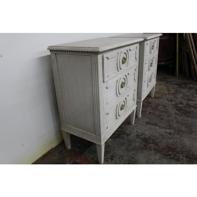 Early 20th Century 20th Century Vintage Swedish Gustavian Style Nightstands-A Pair For Sale - Image 5 of 10