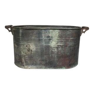 Antique Atlantic Copper Boiler Basin - 15 Gallon For Sale
