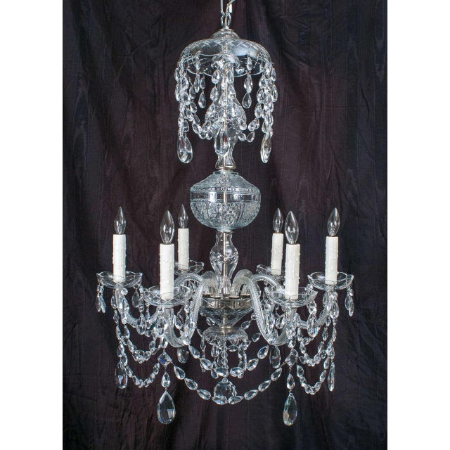 Neoclassical Neoclassical Style Crystal Chandelier For Sale - Image 3 of 11