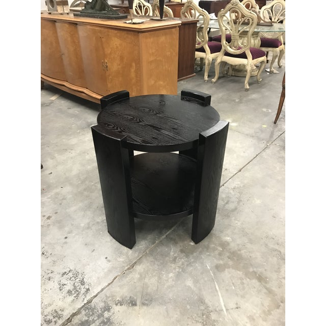 Monumental French Art Deco Solid Ebonized Cerused Oak Coffee Table Circa 1940s. - Image 11 of 11