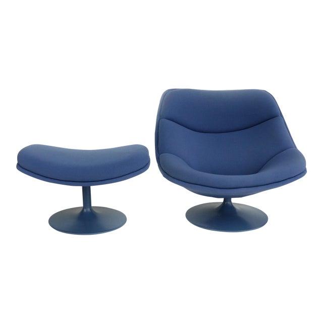 Mid-Century Modern Geoffrey Harcourt Chair & Ottoman For Sale