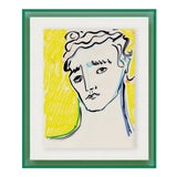 Image of Portrait by Luke Edward Hall in Dark Green Acrylic Shadowbox, Extra Small Art Print For Sale